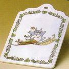 1 left- Cutting Board - Ceramics - Noritake -made in Japan - Totoro - Ghibli -out production (new)