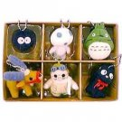 1 left - 30% OFF - 6 Mascot Chain Strap - Totoro & Kurosuke & Jiji & Kodama & Yakkuru & Porco (new)