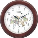 Wall Clock - Quartz - wooden frame - made in Japan - Totoro & Sho & Kurosuke - Ghibli - 2010 (new)