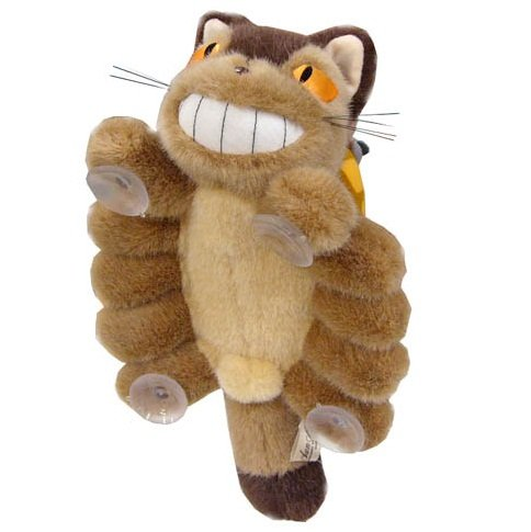 Plush Doll with Sucking Disc - Nekobus & Kurosuke - Totoro - Ghibli - Sun Arrow - no production (new)
