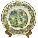 Yearly Plate 2011 with Wooden Stand - Bone China - Noritake - Totoro Mononoke Spirited Away (new)