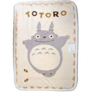 Blanket (M) 100x140cm - Polyester & Microfiber -nachure- Totoro - out of production (new)