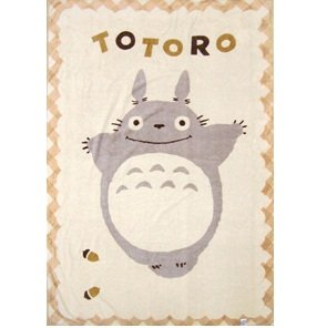SOLD - Blanket (L) - 140x200cm - Polyester & Microfiber -nachure- Totoro - out of production (new)