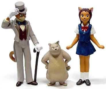 3 left - 3 Figure Set - Baron & Muta & Haru - Cat Returns - Ghibli - out of production (new)
