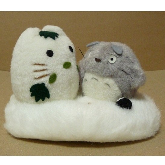1 left - Plush Doll - H11cm - Totoro & Yukinko & Kurosuke - Sun Arrow - no production (new)