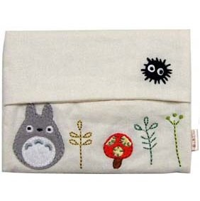 1 left - Pocket Tissue Cover - Applique & Embroidery - white - Totoro - 2011 - no production (new)