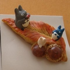 1 left - Ornament Figure - Handmade in Japan - Chu & Sho & Totoro & Acorn - no production (new)
