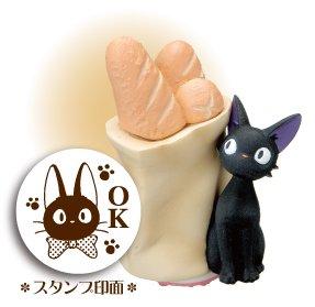 Rubber Stamp - Jiji & Bread - OK - made in Japan - Kiki's Delivery Service - Ghibli (new)