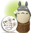 Rubber Stamp - OK - Totoro & Kurosuke & Clover - made in Japan - Ghibli (new)