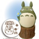 Rubber Stamping - Totoro & Kurosuke & Umbrella & Frog - made in Japan - Ghibli (new)