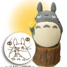 Rubber Stamp - Totoro & Kurosuke & Ocarina - made in Japan - Ghibli - 2011 (new)