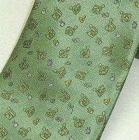 Necktie - Silk - green - stamp - made in Japan - Totoro - Ghibli - 2011 (new)