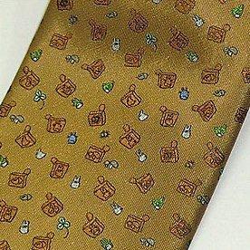 Necktie - Silk - brown - stamp - made in Japan - Totoro - Ghibli - 2011 (new)