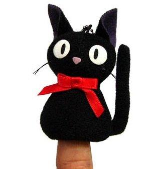 Finger Doll - Mascot - Chain Strap -Jiji - Kiki's Delivery Service - Ghibli - 2011 (new)