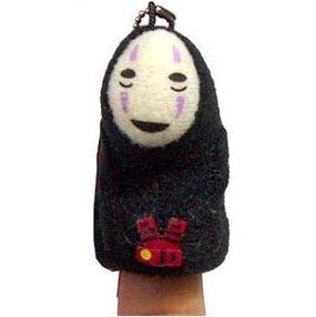 Finger Doll - Mascot - Chain Strap - Kaonashi - Spirited Away - Ghibli - 2011 (new)