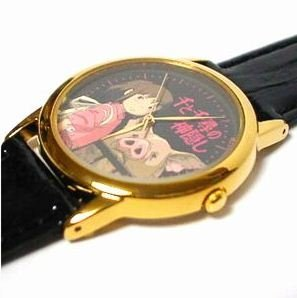 1 left - Watch in Leather Case - Seiko - made in Japan - Spirited Away - out of production (new)