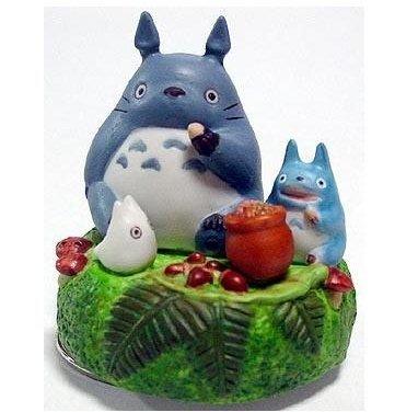 Music Box - Rotary - Porcelain - oshokuji -  Totoro & Chu & Sho - out of production (new)