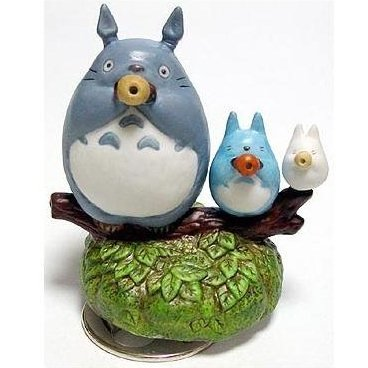 Music Box - Rotary - Porcelain - Totoro & Chu & Sho & Ocarina - sekiguchi - no production (new)