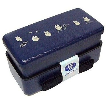 SOLD- 2 Tier Bento Lunch Box -Japanese Style-blue- Totoro - Ghibli -madeinJapan-outproduction(new)
