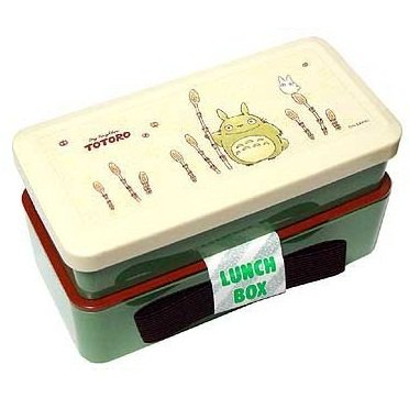 1 left - 2 Tier Lunch Box & Belt - horsetail - Totoro - made in Japan - no production (new)
