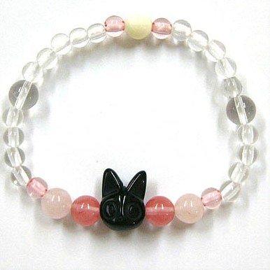 Bracelet - Black Stone & Rose Quartz & Cherry Quartz - Jiji - Kiki's Delivery Service - 2011 (new)
