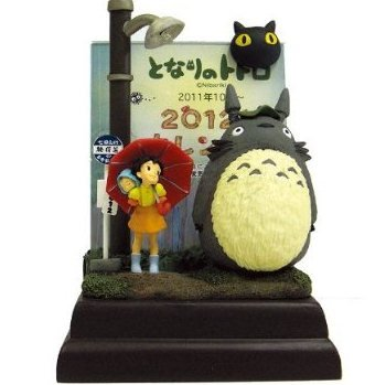 SOLD- Monthly Calendar -from Oct 2011 to Dec 2012-LED Light- Photo Frame- Totoro Satsuki Mei (new)