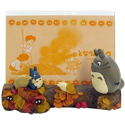 Photo Frame - autumn - Totoro & Chu & Sho & Kurosuke - Ghibli - 2011- no production (new)