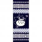 Towel / Tenugui -33x90cm- Edo- Japanese Dyed Made Japan - Totoro Ghibli no production (new)