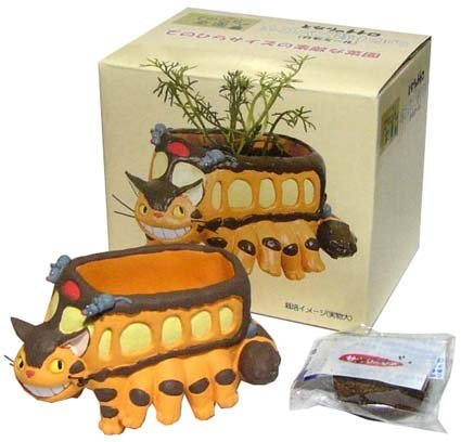Mini Planter Pot & Seed & Soil Set - Aster - Nekobus - Totoro - 2013 (new)
