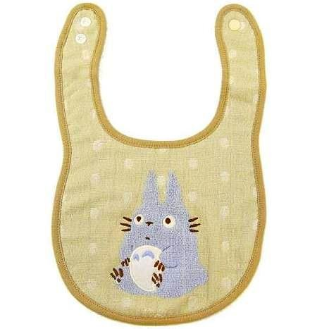 SOLD - Baby Bib - Towel Cotton - Snap Button - Blue Totoro - Gift Box -2009- no production (new)