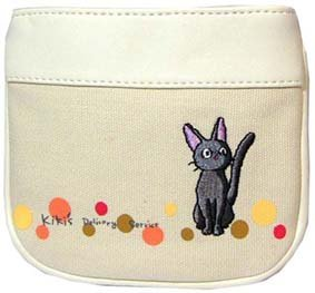 1 left - Pouch - Jiji Embroidered - white - Kiki's Delivery Service - out of production (new)