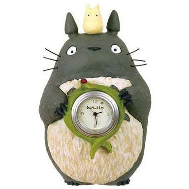 SOLD - Mini Clock - Quartz - Totoro & Chu Totoro & Sho Totoro - 2006 - no production (new)