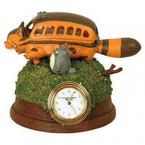 1 left - Mini Clock - Quartz - Totoro & Nekobus - Ghibli - no production (new)