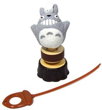 Spin Toy - Totoro on Top - pull plastic string - motor inside - Sun Arrow - no production (new)