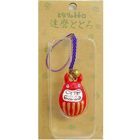 SOLD - Strap Holder - Totoro Daruma - Japanese Tradition - Ghibli - out of production (new)
