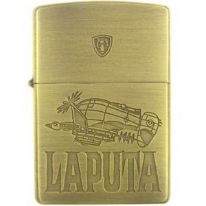 Zippo - Brase Case & Wooden Box - Serial Number - Tiger Moth & Crest - Laputa - Ghibli (new)