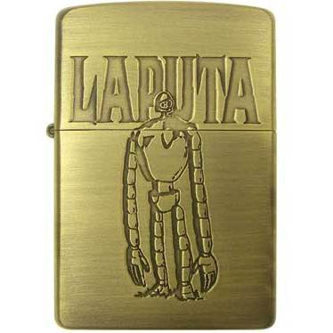 Zippo - Brass Case & Wooden Box - Serial Number - Robot - Laputa - Ghibli - no production (new)