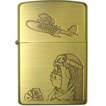 Zippo - Brass Case & Wooden Box - Serial Number - Porco & Savioa - Porco Rosso - no production (new)