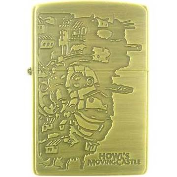 Zippo - Brass Case & Wooden Box - Serial Number - Castle - Howl's Moving Castle - Ghibli (new)