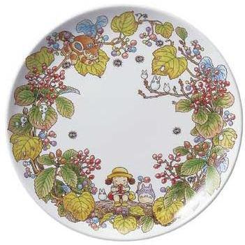 Plate - 23cm - Bone China - Gamazumi - Noritake - Totoro - Ghibli (new)