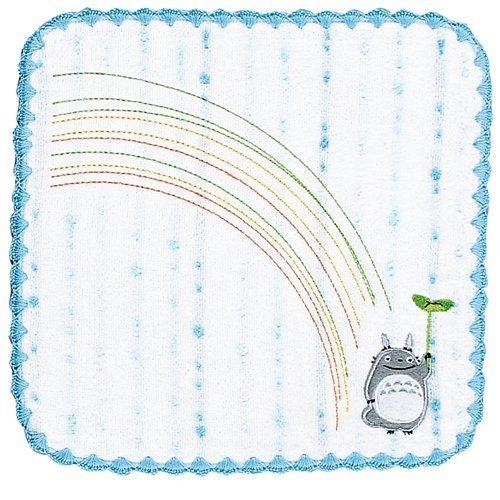 Mini Towel - Non-Twisted Thread - Totoro Applique - rainbow - blue - Ghibli - 2007 (new)