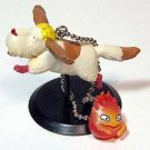 Keychain - Heen & Calcifer - cominica - Howl's Moving Castle - Ghibli - out of production (new)