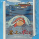 1 left - Tin Postcard - Magnet - Ponyo - made in Japan -  Mitaka Ghibli Museum - Paper Bag (new)