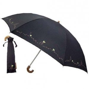 Folding Umbrella & Case - black - Clover - Totoro - Ghibli - Sun Arrow - out of production (new)