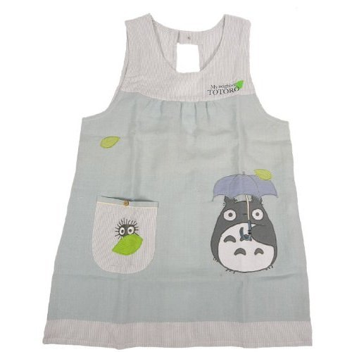 Apron M~L - Applique - umbrella - Totoro - Ghibli - 2011 (new)