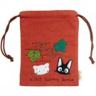 Kinchaku Bag -red- Applique Embroidery- Jiji Lily - Kiki's Delivery Service - Sun Arrow -2011 (new)