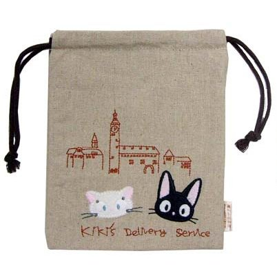 Kinchaku Bag - Applique & Embroidery- Jiji & Lily - Kiki's Delivery Service -2011-no production(new)