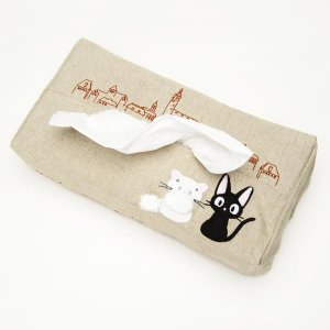 Tissue Box Cover - Applique Embroidery - Jiji Lily - Kiki's Delivery Service - Sun Arrow -2011 (new)