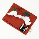 Pocket Tissue Cover -Applique Embroidery -red- Jiji Lily - Kiki&#39;s Delivery Service - Sun Arrow (new)