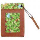 Pass Card Case - leaves - Totoro & Chu & Sho Totoro & Kurosuke - Ghibli - Ensky - 2011 (new)